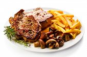 picture of pork cutlet  - Fried pork chop - JPG