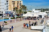 IBIZA, SPAIN - SEPTEMBER 17: Ferry station in the port of Ibiza Town on September 17, 2012 in Ibiza, Balearic Islands, Spain. With a population of 48,484, the city is the capital of the tourist island