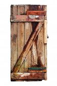 Old Decayed Wooden Door. Isolated
