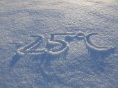 Signs In The Snow -25°c