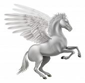picture of winged-horse  - Illustration of the legendary winged horse from Greek mythology Pegasus - JPG