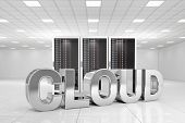 Data Center con nube de cromo