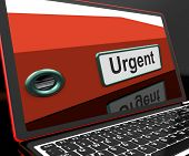 Urgent File On Laptop Shows Priority Documents