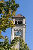 Clock Tower In Spokane, Washington.