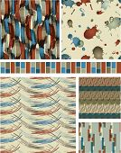 Abstract Masculine Vector Seamless Patterns. Use as fills, digital paper, or print off onto fabric t