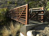 stock photo of boise  - This bridge is located in the Hulls Gulch hills above Boise, Idaho.