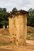 Erosion of soil. Pae Muang Phee Travel in Thailand
