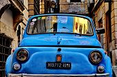Rome - September 20: A Fiat 500 On September 20, 2013 In Rome. Fiat 500 Was Produced By The Fiat Com