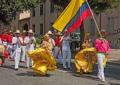 Street Parade Of Colombian Dancers