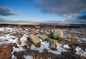 winter moorland scene