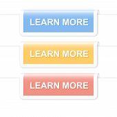Set Of Information Tabs. Design Template. Vector Illustration