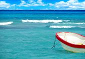 Boat On Tropical Sea