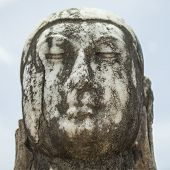 pic of samadhi  - Close up of the head of a marble buddha - JPG