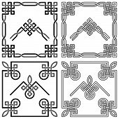 Celtic Knot Corners Patterns 1