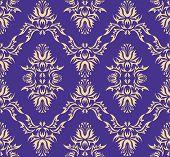 Naadloze patroon damast (Victoriaanse)