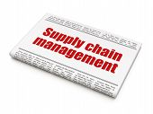 Marketing news concept: newspaper headline Supply Chain Management