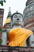 Ayuthaya-Aug 24:The Ancient Buddha Statue, August 24,2012 in Ayuthaya, Thailand