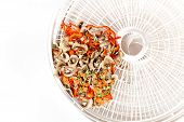 Seasoning of dried vegetables for cooking