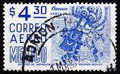 Postage Stamp Mexico 1975 Oaxaca, Danza De La Pluma