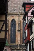 Cathedral of Saint Martin and Half timbered houses Colmar France