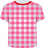 T Shirt Template- Gingham pattern