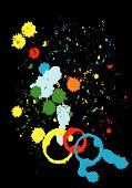 Grunge Color Paint Splashes