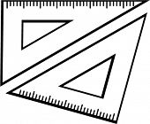 set square triangle rulers