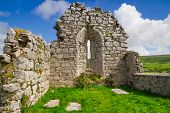 Ruins of old abbey in Co. Clare, Ireland