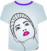 T Shirt Template- Fashion Model