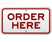 Order Here Notice