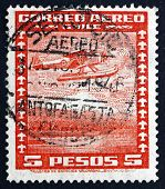 Postage Stamp Chile 1934 Seaplane