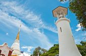 Luang Pagoda And Lighthouse At Tung Kuan Hilltop