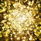 Gold sparkle glitter background. Glitter stars background