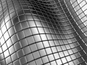 Abstract Silver Steel Background With Reflection