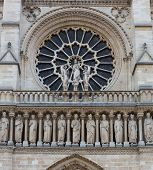 Notre Dame Rose Window And Freize
