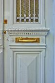 elegant door and bronze handle close-up