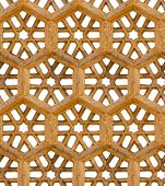 Seamless Pattern. Ancient Traditional Ornament - Brown Sandstone Grill