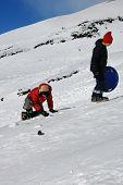 Children Playng On Snow