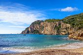 pic of deserted island  - A section of Paleokastritsa beach - JPG