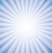 Sun Rays In Bright White On Sky In Background Vector Graphic