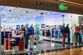 Lacoste Shop Windows In A Shopping Center Moscow.