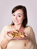 Hamantaschen on a plate