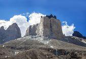 Incredible Rock Formation Of Los Cuernos In Chile.
