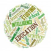 Education word cloud concept image