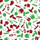 picture of wine-press  - red and green wine icon color pattern eps10 - JPG