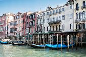 Panoramic view of Canal Grande in Venice, Italy