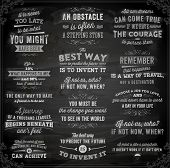 Set of Quotes Typographical Posters, Vector Design. Motivational Quotes for Inspirational Art. Chalk