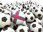Football With Flag Of Faroe Islands