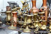 Brass Pots Antique