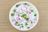 Healthy cucumber and red onion salad